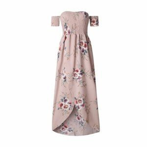 NWT Khaki Boho Floral Maxi Dress